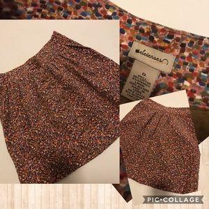 Anthropology Elevenses  confetti button skirt